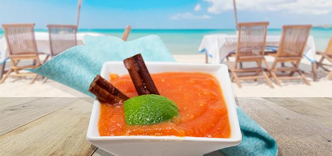 Swedish papaya soup