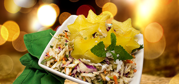 Star-studded coleslaw