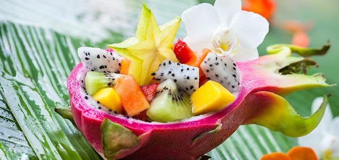 Dragon's fruit salad
