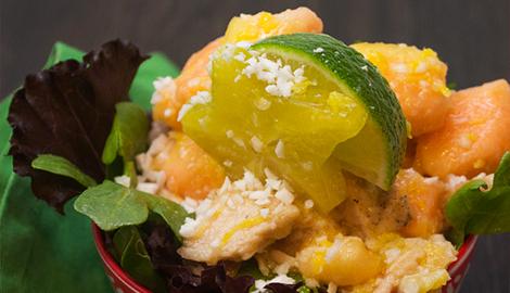 Turkey tropical salad