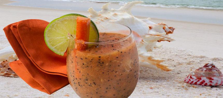 Decadent dragon papaya smoothie