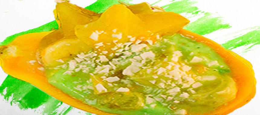 Tropical cream fruit dessert