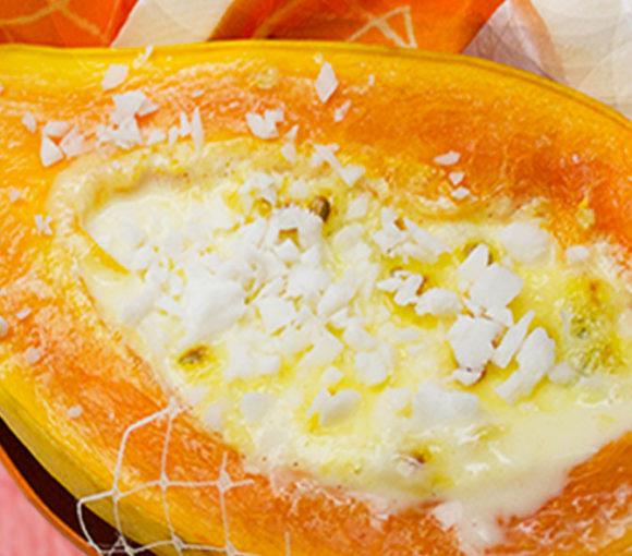 Passionate papaya creme brulee
