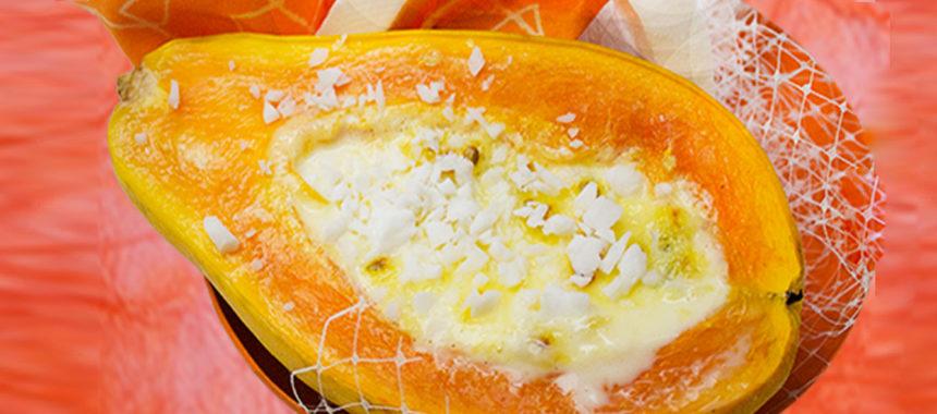 Rosemary's passionate papaya creme brulee