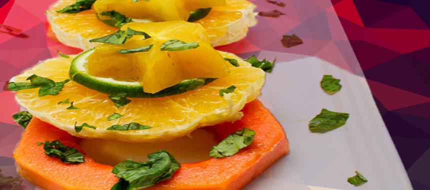 Tropical fruit tower salad