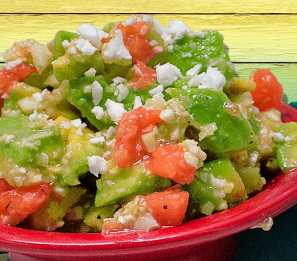 Coconut, papaya, SlimCado salad