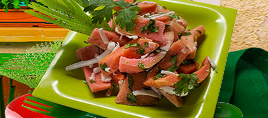 Simple red guava salad