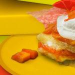 Caribbean Red papaya no-bake cake