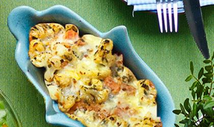 Roasted ginger, cauliflower and papaya aside
