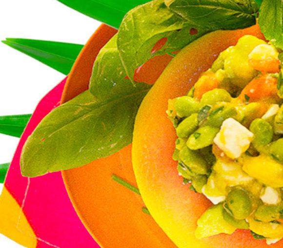 gazpacho papaya slimcado dragonfruit