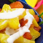 Stars in your papaya dessert