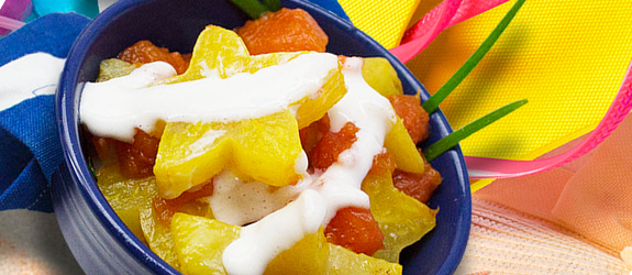 papaya starfruit dessert