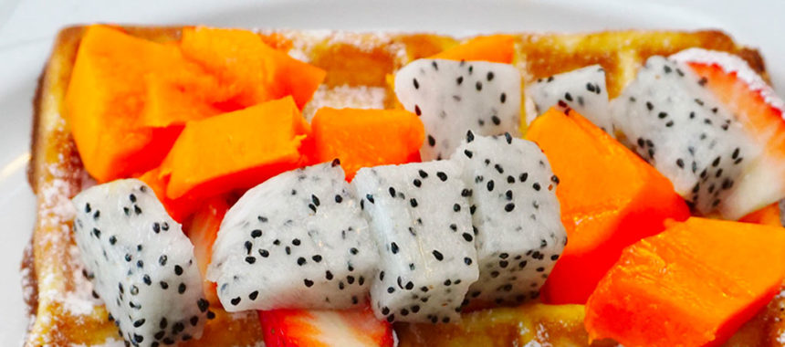 Caribbean ginger papaya waffle or toast topper