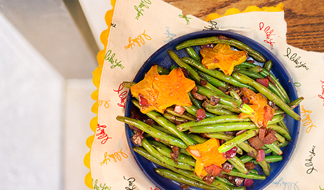 Star-dusted green beans