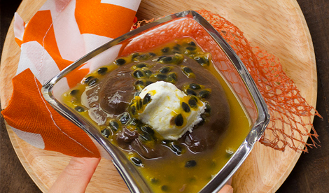 Tropical Chocolate-Avocado Mousse