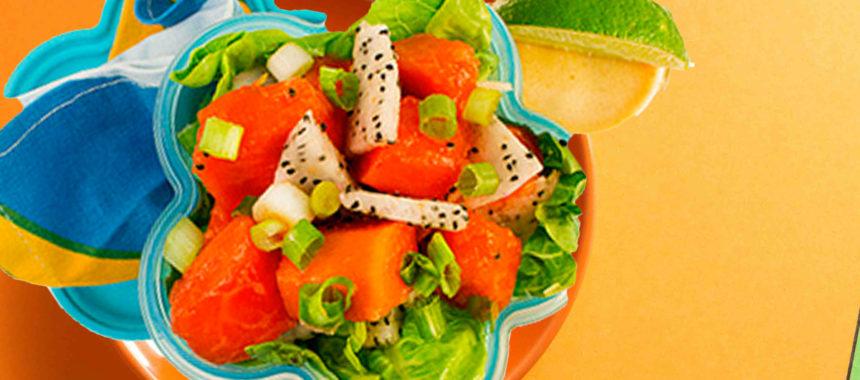 Caribbean fruit salad with brown sugar vinaigrette