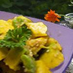Tropical avocado and ginger salad