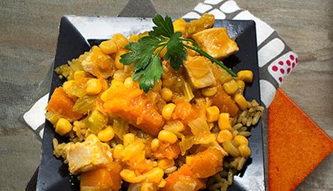 Chicken calabaza stew