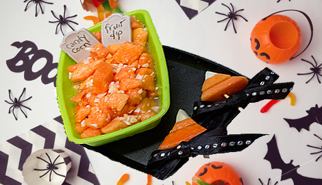 Candy corn fruit salad