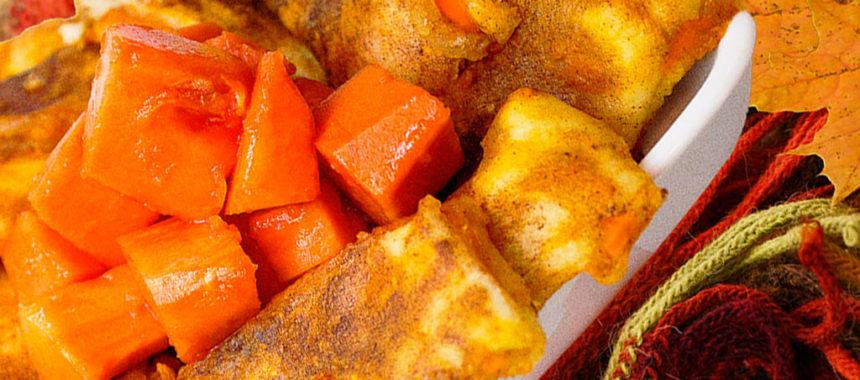 Papaya pie fries