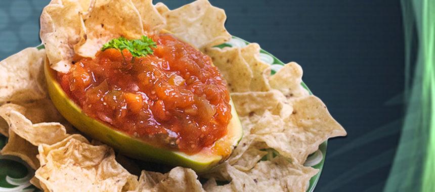 Hot Tomatillo Papaya Salsa