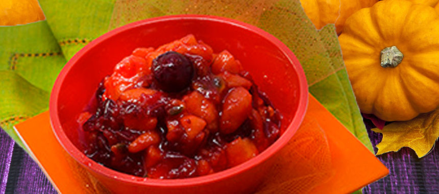 Caribbean cranberry sauce