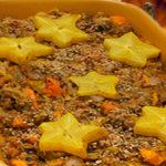 Caribbean stuffing casserole