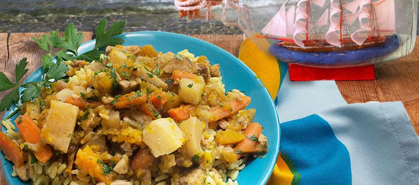Calabaza boniato stew