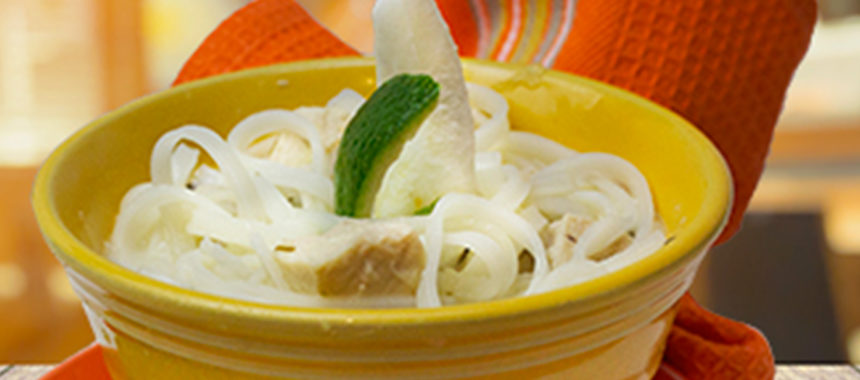 Chicken and lime noodles