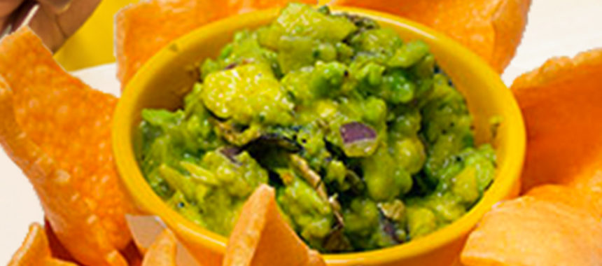 Mushroomed SlimCado guacamole