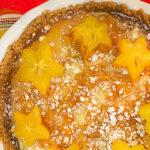 Starfruit coconut cheesecake