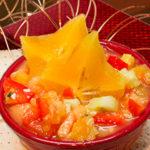 Starfruit-Papaya Relish