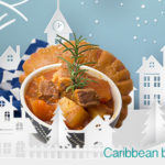 Caribbean beef stew cooked slow