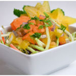 Minty, starry, papaya fruit salad