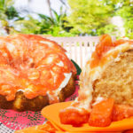 Caribbean Red papaya angel food cake