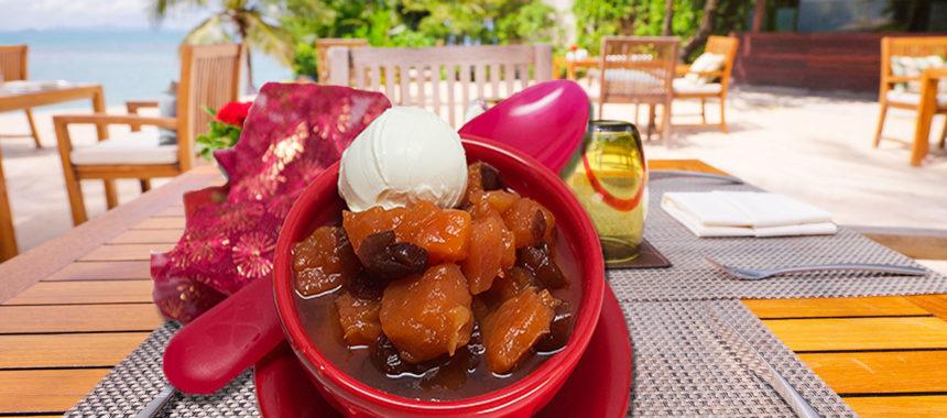 Spiced papaya compote