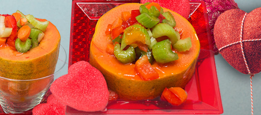 Caribbean eye veggie salad bowl