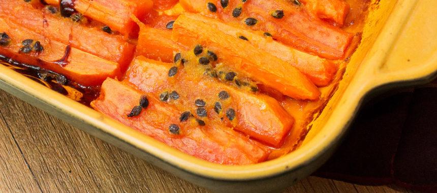 Ginger sugared papaya