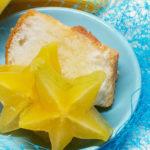 Starfruit and green tea dessert topping