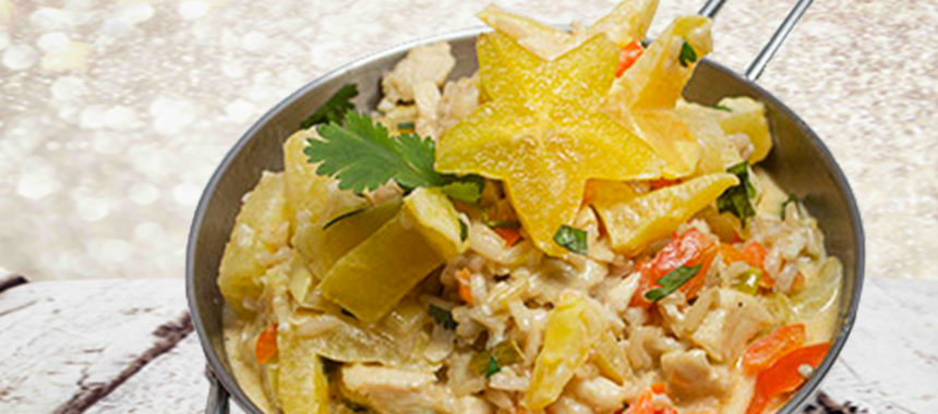 Chicken'n stars rice