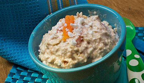 Coconut papaya oatmeal sleepover
