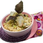 Lychee couscous salad