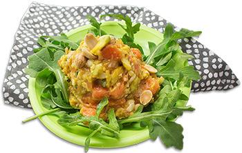 Papaya-SlimCado cashew salad